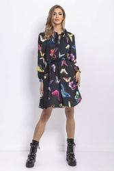Wzorzysta Sukienka Print Motyle Mini