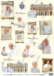 Papier ryżowy decomania 35x50 cm papież franciszek