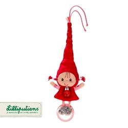 Mini-grzechotka z dzwoneczkiem  lilliputiens - czerwony kapturek
