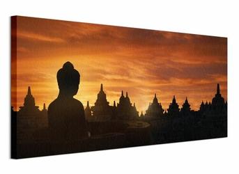 Golden Silhouette, Indonesia - Obraz na płótnie