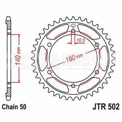 Zębatka tylna stalowa JT 502-47, 47Z, rozmiar 530 2300606 Kawasaki ZRX 1100