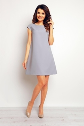 Szara trapezowa sukienka mini