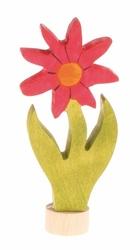 Drewniana figurka, Kwiat Aster, Grimms