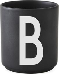 Kubek porcelanowy AJ czarny litera B