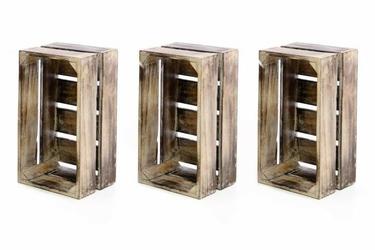 Skrzynia drewniana 3szt 44,5 x 28 x 19,5 cm