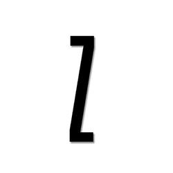 Litera czarna akrylowa 8 cm Design Letters Z