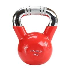 Hantla winylowa żeliwna kettlebell ktc06 6 kg - hms - 6 kg