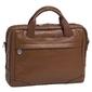 Skórzana torba na laptopa 15,4 mcklein bronzeville 15484m brązowa - brązowy