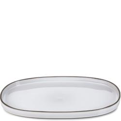Półmisek owalny z rantem 35 x 21 cm caractere revol biały rv-652759-4