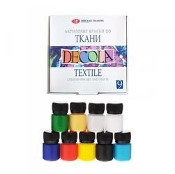 Zestaw farb do tkanin 9x20ml decola