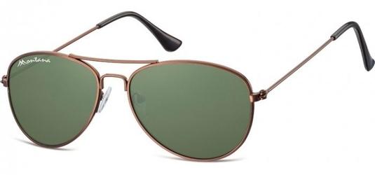 Pilotki okulary aviator dziecięce montana 964c brązowo zielone