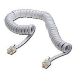 Kabel telefoniczny 4-żyłowy, RJ10 M-4m, skręcony, biały, economy, do ADSL modem