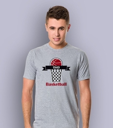 Basketrball t-shirt męski jasny melanż s