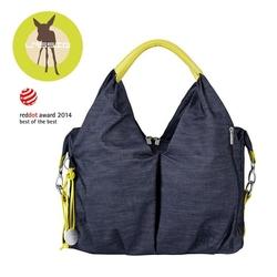 Green label torba z akcesoriami neckline denim blue