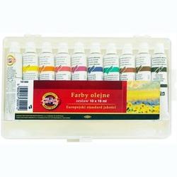 Farby olejne 16 ml - zestaw 10 sztuk