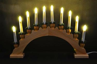 Łuk świecznik adwentowy 10 świec led