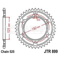 Zębatka tylna stalowa jt 899-42, 42z, rozmiar 525 2301203 ktm super enduro 950