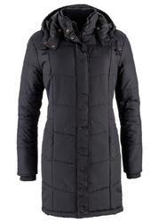 Długa kurtka pikowana, ocieplana bonprix czarny