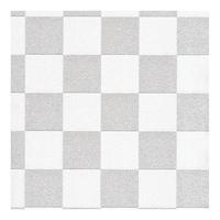 Tapeta szachownica szaro biała kratka