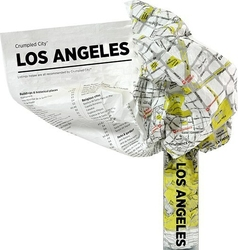 Mapa Crumpled City Los Angeles