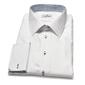 Elegancka biała koszula męska van thorn z klasycznym kołnierzykiem i mankietami na spinki 42