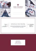 Karta podarunkowa na koszulę szytą na miarę van thorn z tkanin s.i.c. tess z monogramem e-voucher pdf