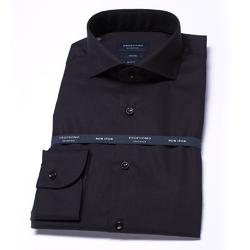 Elegancka czarna koszula męska taliowana slim fit 45