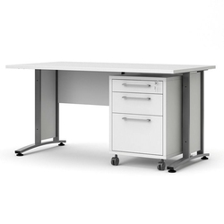 Prima biurko proste 150 cm z kontenerkiem 3