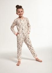 Piżama dziewczęca kombinezon cornette young girl 106119 polar bear 2 dłr 134-164