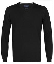 Elegancki czarny sweter prufuomo z delikatnej wełny merynosów xl