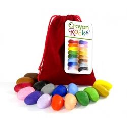 Kredki z wosku soi Crayon Rock w aksamitnym woreczku - 16 kolorów