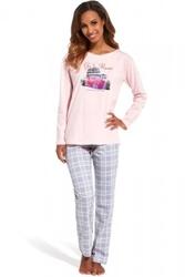 Piżama damska cornette  655126 go to rome różowy