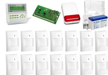 Zestaw alarmowy satel integra 64, klawiatura lcd, 14 czujników ruchu, sygnalizator zewnętrzny spl-2030 - możliwość montażu - zadzwoń: 34 333 57 04 - 37 sklepów w całej polsce