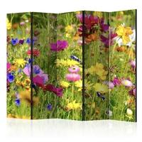Parawan 5-częściowy - letnie kwiaty ii room dividers