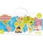 Mapa świata puzzle tekturowe z figurkami zwierząt 60 el.