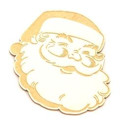 Ozdobny scrap świąteczny święty mikołaj