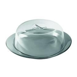 Guzzini - patera do ciasta z pokrywką i łopatką, szara - szary