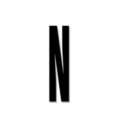 Litera czarna akrylowa 8 cm Design Letters N