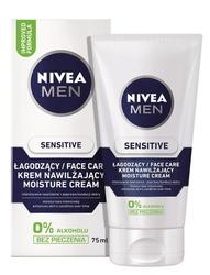 Nivea for men sensitive, łagodny krem do twarzy, 75ml