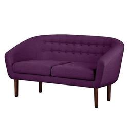 Sofa tapicerowana tana 2 os, fioletowa