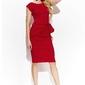 Czerwona drapowana midi sukienka bez rękawów