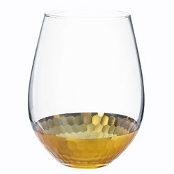 Wazon szklany na kwiaty altom design golden honey 14 cm