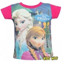Koszulka frozen elsa  anna różowa 2 lata