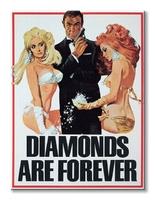 James bond diamonds are forever girls - obraz na płótnie