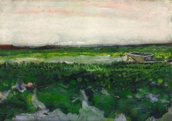 Vincent van gogh, landscape with wheelbarrow - plakat wymiar do wyboru: 70x100 cm