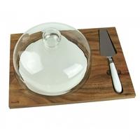 Husla deska do serwowania z kloszem i szpatułą