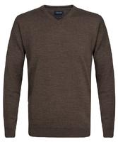 Elegancki ciemnoszary sweter prufuomo z delikatnej wełny merynosów m