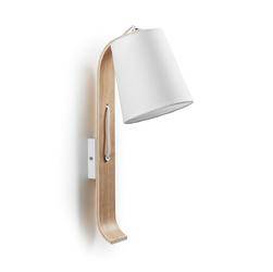 Lampa ścienna MERCY biała - drewniany || biały