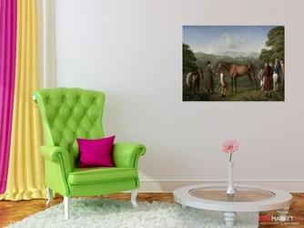 trening konia wyścigowego w terenie - jacques-laurent agasse ; obraz - reprodukcja