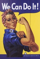 Rosie the riveter - obraz na drewnie